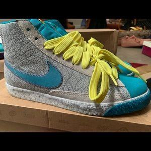 Blue, Grey, & Neon Nike Blazers